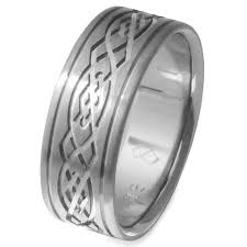 titanium celtic wedding bands titanium celtic wedding band celtic infinity knot