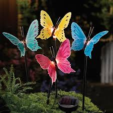 design of butterfly garden decor solar fiber optic butterfly garden
