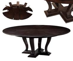 round expandable solid oak dining table with hidden leaves 84
