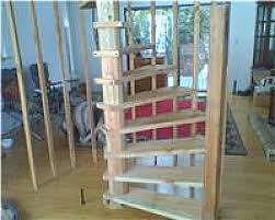 diy wood spiral stairs built from plans