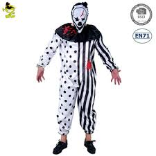 design ghost jumpsuit bloody killer clown
