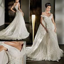 vintage lace off the shoulder wedding dress naf dresses