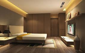 Bedroom With Tv Briliant Minimalist Bedroom With Tv And Wall Mirror Download 3d