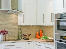 backsplash with white kitchen cabinets green glass tile backsplash contemporary kitchen