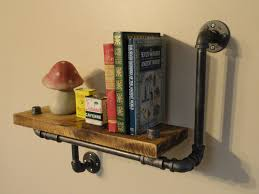 industrial shelving pipe shelf wood shelf made from local and