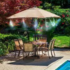 outdoor patio misting kit garden backyard plants cooling system