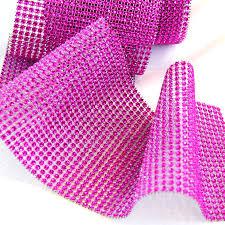 diamond mesh ribbon fuschia diamond wrap bling mesh rhinestone wrap diamond ribbon