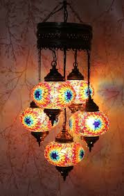 Mosaic Chandelier Turkish Turkish Mosaic 5 Globe Chandelier Cat Eye Gold U2013 Snazzy Bazaar