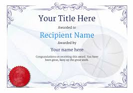 free basketball certificate templates add printable badges u0026 medals