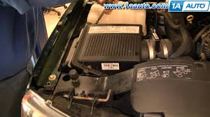 how to install replace engine air filter chevy silverado gmc