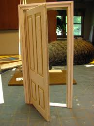 How To Make Dollhouse Furniture Out Of Household Items How To Make A 1 Inch Scale Dollhouse Interior Door And Jamb From