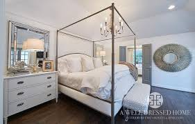 Metal Canopy Bed Metal Canopy Bed With Curved Headboard Transitional Bedroom