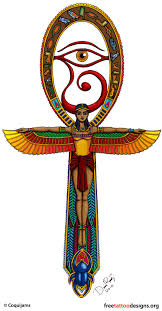 tattoos ankh eye of horus designs