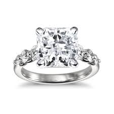 Platinum Diamond Wedding Rings by Large Diamond Engagement Rings Brides