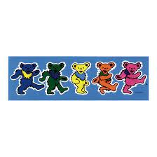 grateful dead dancing bears 3 in sticker liquid blue
