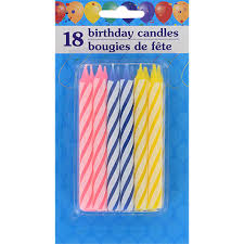 birthday candle bulk colorful spiral birthday candles 18 ct packs at dollartree