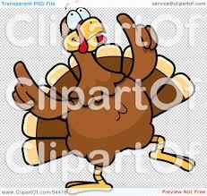 royalty free rf clipart illustration of a turkey bird doing a