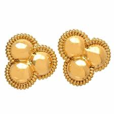 post earrings italian gold clip post earrings for sale at 1stdibs