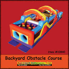 backyard obstacle course backyard inflatables