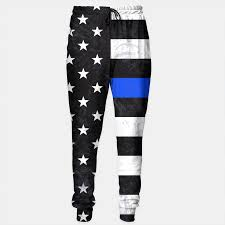 Thin Blue Line Flag Thin Blue Line Flag Sweatpants Live Heroes