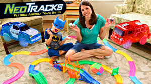 light up car track as seen on tv mega cars track neo tracks police cars fire trucks toys with