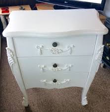Toulouse White Bedroom Furniture Dunelm Toulouse White Three Drawer Bedroom Furniture In