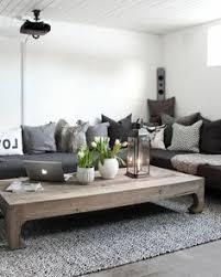 deco canapé salon canapé noir déco bois et gris for the home