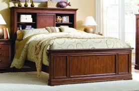 Bookcase Headboard Beds Queen Storage Bed With Bookcase Headboard Including Bamboo Ideas
