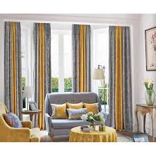 long living room curtains mustard yellow and gray patterned modern long room divider curtains