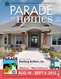 southern design home builders inc mba parade of homes planbook 2012 by metropolitan builders