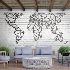 limited product metal wall world map xxxl hoagard co