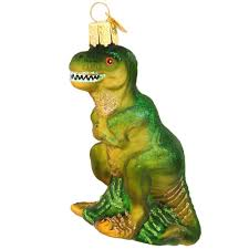 t rex glass ornament world ornaments