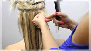 keratin bond extensions hair and keratin bond hair extensions application