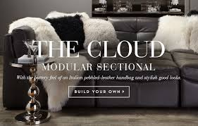 Black Sofa Sectional Sectionals Stylish Affordable Sectionals Z Gallerie