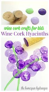 spring crafts wine cork stamp craft for kids the homespun hydrangea