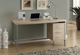 Metal Office Desks Monarch Reclaimed Look Silver Metal Office Desk 60
