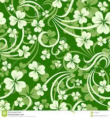 st patricks day seamless background with shamrock stock vector