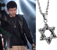 long necklace men images Star long necklace men cool boys 5 stars titanium necklaces jpg