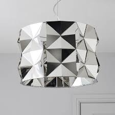 B Q Kitchen Ceiling Lights by Ciara Faceted Chrome Effect Pendant Ceiling Light Departments