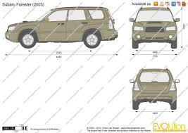 blue subaru forester 2003 the blueprints com vector drawing subaru forester