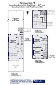 floor plan area calculator 4 bedroom property for sale in rokesly avenue london n8 1 200 000