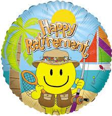 18 retirement smiley mylar foil balloons wholesale