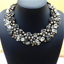 chunky crystal necklace jewelry images 2016 new arrival fashion chunky collar choker statement necklace jpg