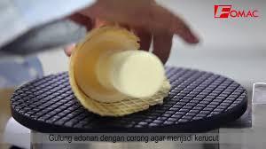 Cara Membuat Es Krim Wafer   cara membuat waffle cone atau corong es krim youtube