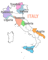 Map Of Italy And Sicily by Halcyon Tours Italy