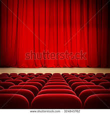 Curtains On A Stage Red Curtain On Theater Cinema Stage Stock Photo 120040753