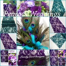 peacock wedding lacetable runners purple teal green 3ft 10ft x 7