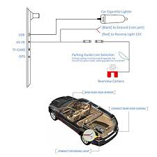 auto vox m2 1080p hd dual lens rearview mirror dash cam with car