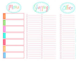 printable meal planner free 30 family meal planning templates weekly monthly budget