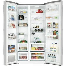westinghouse wse6200sa 620l side by side refrigerator at the good guys